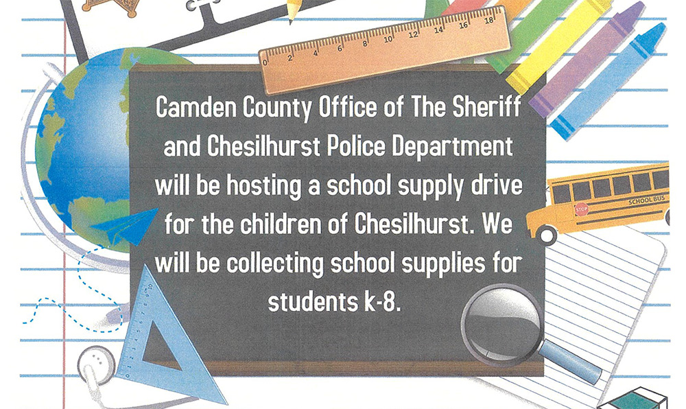 School Supply Drive   Chesilhurst PD